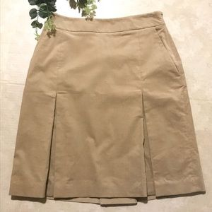 Brooks Brothers corduroy pocket pleated skirt B28